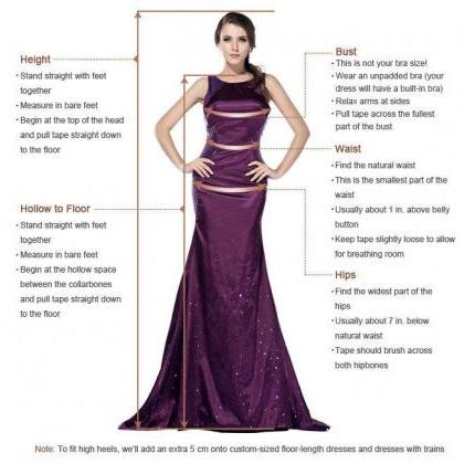 A Line V Neck Backless Prom Dress w..